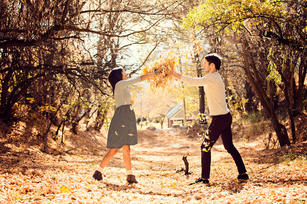 engagement photography Raleigh nc, North Carolina engagement photography, autumn engagement photos north carolina