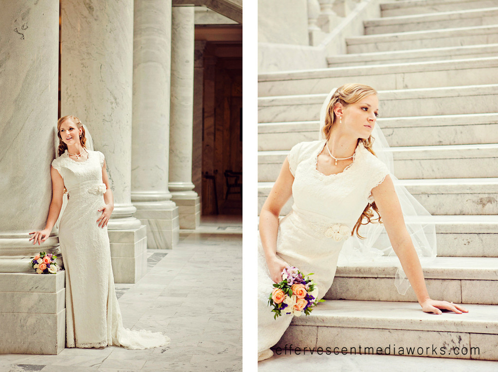 bridals at the utah state capitol