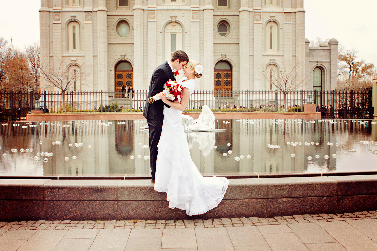 salt lake temple wedding